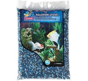 Písek akvarijní modrý mix odstínů Flamingo 1kg, 2-3 mm