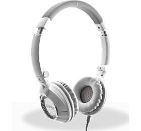 CRONO headset HM-54W Plus/ drátová sluchátka +mikrofon/ jack 3,5 mm/ 90dB/ bílá-šedá