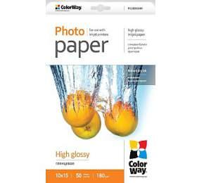 COLORWAY fotopapír/ high glossy 180g/m2, 10x15/ 50kusů