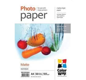 COLORWAY fotopapír/ matte 130g/m2, A4/ 50kusů