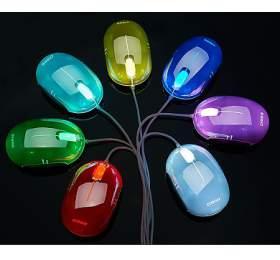 CRONO myš CM646/ optická/ drátová/ 1000 dpi/ USB/ 7variant barevného podsvícení/ stříbrná