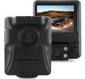 """CEL-TEC E20 Dual GPS - duální palubní kamera do auta 1080p, microSDXC, 2.4"""" LCD, černá"""