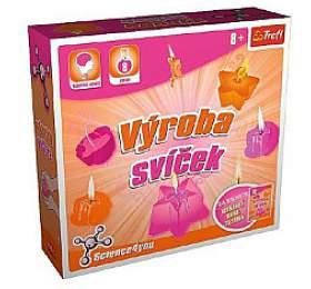 Výroba svíček vědecká hra 8 pokusů Science 4 you v krabici 23x22x6cm