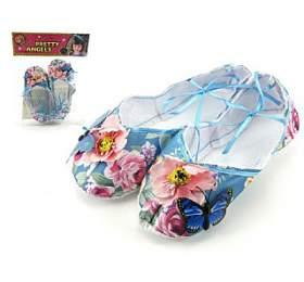 Balerínky/boty pro dívky látkové 18cm vsáčku