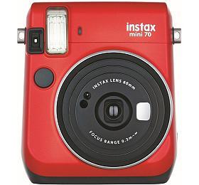 Kompaktní fotoaparát FujiFilm Instax MINI 70, červený