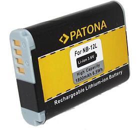 PATONA baterie pro digitální kameru Canon NB-12L 1800mAh Li-Ion