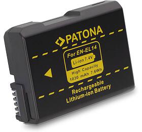 PATONA baterie pro foto Nikon EN-EL14 1030mAh new model