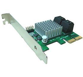 Kouwell PE-120 AHCI SATA III –6Gbps Internal 4Ports LowProfile PCIe 2.0 Host Adapter
