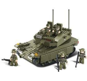 SLUBAN stavebnice Tank, 344 dílků