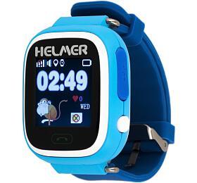 HELMER dětské hodinky LK 703 s GPS lokátorem/ dotykový display/ micro SIM/ IP54/ kompatibilní s Android a iOS/ modré
