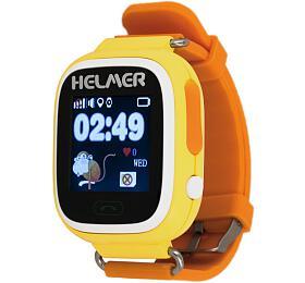 HELMER dětské hodinky LK 703 s GPS lokátorem/ dotykový display/ micro SIM/ IP54/ kompatibilní s Android a iOS/ žluté