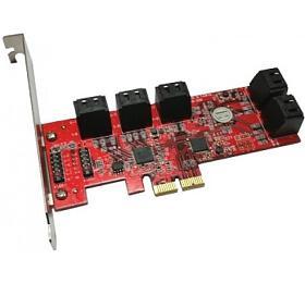 Kouwell PE-129 /PCI-E řadič /10x SATA /Low profile