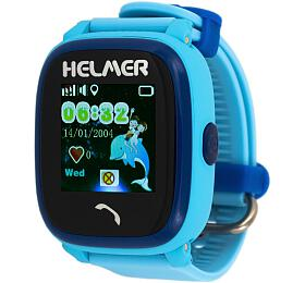 HELMER dětské hodinky LK 704 s GPS lokátorem/ dotykový display/ micro SIM/ IP67/ kompatibilní s Android a iOS/ modré