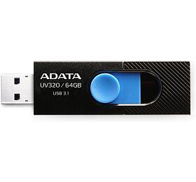 ADATA flash disk 64GB UV320 USB 3.1 černo-modrý