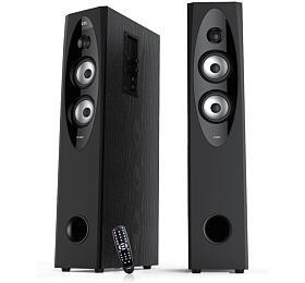 FENDA F&D repro T-60X/ 2.0/ 110W/ černé/ dřevěné/ BT4.0/ NFC/ FMrádio/ USB přehrávání/ dálkové ovládání/ Karaoke