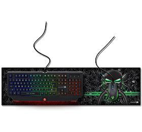 CONNECT IT BATTLE RNBW podložka pod klávesnici a myš, velká