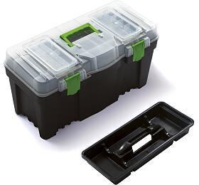 """Plastový box nanářadí 23,5"""", nosnost 21kg, GREEN BOX, poškozené víko apanty Prosperplast"""