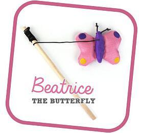 Beco Cat Nip hůlka -Motýl Beatrice BeCoThings