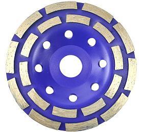 Kotouč diamantový brusný dvouřadý, 125x22,23mm, GEKO