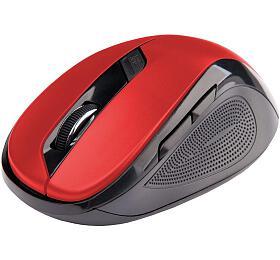C-TECH WLM-02, černo-červená, bezdrátová, 1600DPI, 6 tlačítek, USB nano receiver