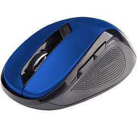 C-TECH WLM-02, černo-modrá, bezdrátová, 1600DPI, 6 tlačítek, USB nano receiver