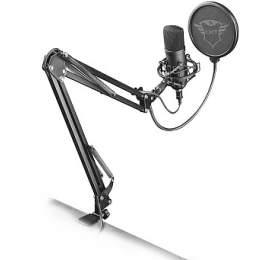 Trust GXT 252+ Emita mikrofon /kondenzátorový /stolní /streamovací /USB /polohovatelný stojan /pop filtr /trojnož