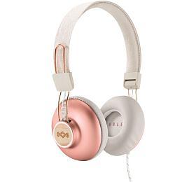 MARLEY Positive Vibration 2.0 -Copper, sluchátka přes hlavu sovladačem amikrofonem