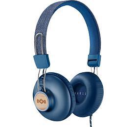 MARLEY Positive Vibration 2.0 -Denim, sluchátka přes hlavu sovladačem amikrofonem