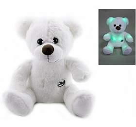 Medvěd/medvídek svítící plyš 26cm na baterie