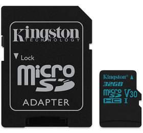KINGSTON Canvas Go32GB microSDHC /UHS-I U3/ vč. adaptéru