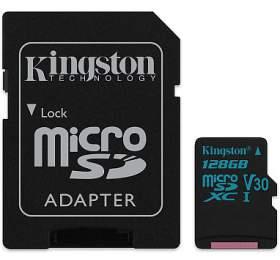 KINGSTON Canvas Go128GB microSDXC /UHS-I U3/ vč. adaptéru