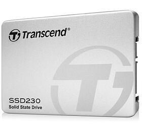 TRANSCEND SSD230S 1TB SSD disk 2.5'' SATA III, 3D TLC, Aluminium casing, 560MB/s R, 500MB/s W, stříbrný