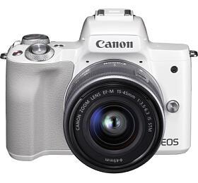 Canon EOS M50 White + EF-M 15-45 +16GB karta ZDARMA