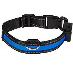 Svítící obojek , L, modrý Num'axes