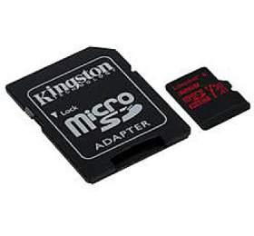 Kingston paměťová karta 32GB Canvas React micro SDHC UHS-I V30