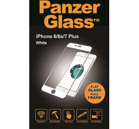 PanzerGlass Edge to Edge pro Apple iPhone 6/6S/7/8 plus bílé
