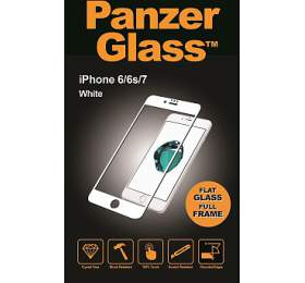 PanzerGlass Edge to Edge pro Apple iPhone 6/6S/7/8 bílé