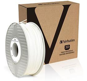 Verbatim BVOH struna 2,85 mm pro 3D tiskárnu, 0,5kg, bílá