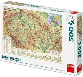 Puzzle Mapa České Republiky 47x33cm 500dílků vkrabici 33x23x3,5cm