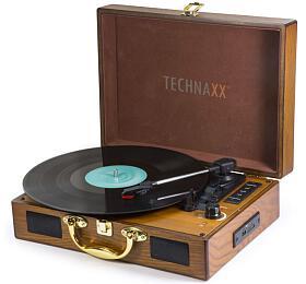 Technaxx Bluetooth gramofon/konvertor -převod LPgramofonových desek doMP3 formátu, hnědý