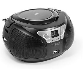 Technaxx Boombox CDpřehrávač, Bluetooth, FM, AUX-IN &USB, černý