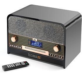 Technaxx Retro CD přehrávač, Bluetooth, DAB+/FM, AUX-IN & USB, černý