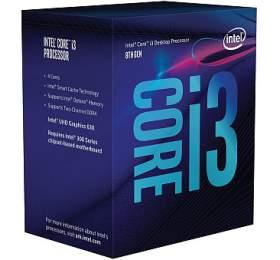 INTEL Core i3-8300 / Coffee Lake / LGA1151 / max. 3,7 GHz / 4C/4T / 8MB / 62W TDP / BOX