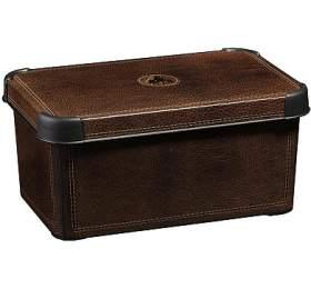 Box úložný dekorativní L Leather CURVER