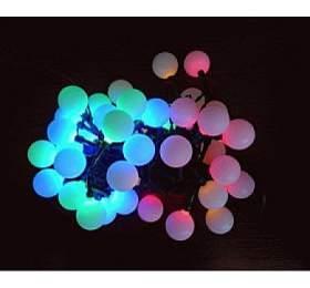 Vánoční osvětlení - KOULE 2,5 cm - 40 LED - BAREVNÉ