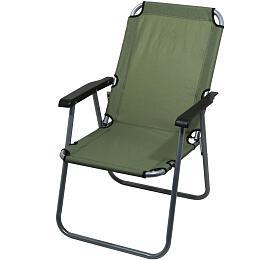Židle kempingová skládací LYON tmavě zelená, CATTARA