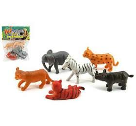 Zvířátka mláďata safari ZOO plast 6ks vsáčku 14x18x3cm