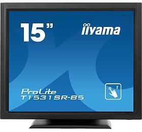 iiyama T1531SR-B5 - TN,1024x768,8ms,370cd/m2, 700:1,4:3,VGA,HDMI,DP,USB,repro,výška.