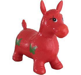 Hopsadlo kůň skákací gumový červený 49x43x28cm vsáčku