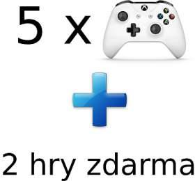 AKCE: 5x XBOX ONE -Bezdrátový ovladač Xbox One, bílý +2 hry ZDARMA